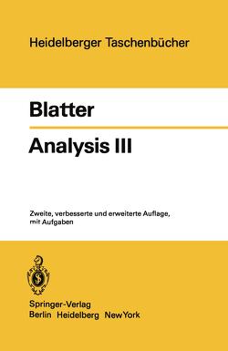 Analysis III von Blatter,  C.