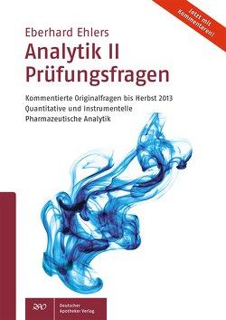 Analytik II Prüfungsfragen von Ehlers,  Eberhard