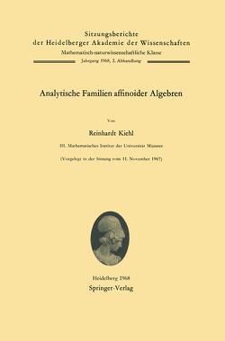 Analytische Familien affinoider Algebren von Kiehl,  Reinhardt