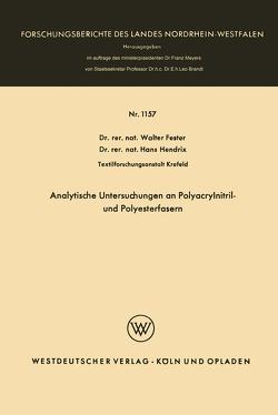 Analytische Untersuchungen an Polyacrylnitril- und Polyesterfasern von Fester,  Walter