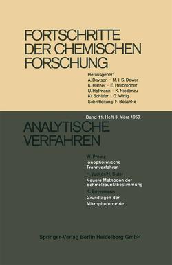 Analytische Verfahren von Beyermann,  K., Jucker,  H., Preetz,  W., Suter,  H.