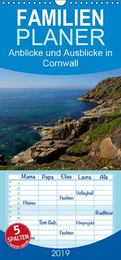 Anblicke und Ausblicke in Cornwall – Familienplaner hoch (Wandkalender 2019 , 21 cm x 45 cm, hoch) von Schäfer,  Ulrike