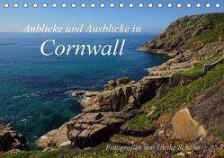 Anblicke und Ausblicke in Cornwall (Tischkalender 2019 DIN A5 quer) von Schäfer,  Ulrike