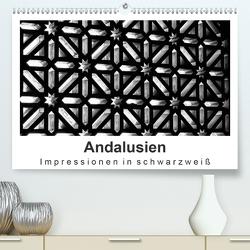 Andalusien Impressionen in schwarzweiß (Premium, hochwertiger DIN A2 Wandkalender 2020, Kunstdruck in Hochglanz) von Knappmann,  Britta