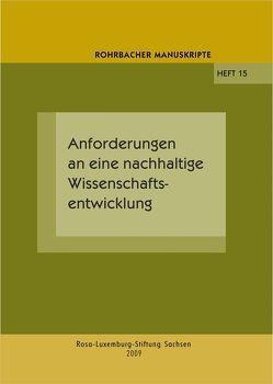 Anforderungen an eine nachhaltige Wissenschaftsentwicklung von Rochhausen,  Rudolf