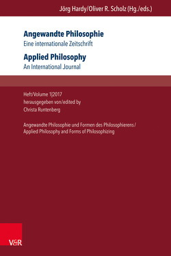 Angewandte Philosophie. Eine internationale Zeitschrift / Applied Philosophy. An International Journal von Blesenkemper,  Klaus, Depner,  Hanno, Heinrich,  Jens, Klager,  Christian, Kraus,  Andreas, Runtenberg,  Christa
