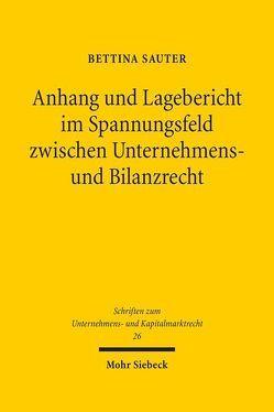 Anhang und Lagebericht im Spannungsfeld zwischen Unternehmens- und Bilanzrecht von Sauter,  Bettina