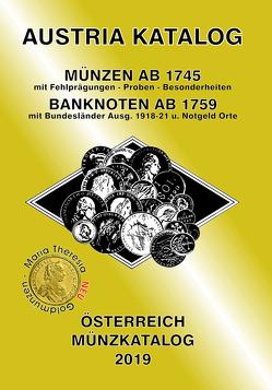 ANK-Muenzkatalog Österreich 2019 von Steyrer,  Christine
