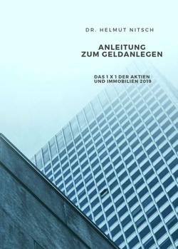Anleitung zum Geldanlegen von Nitsch,  Helmut Hans