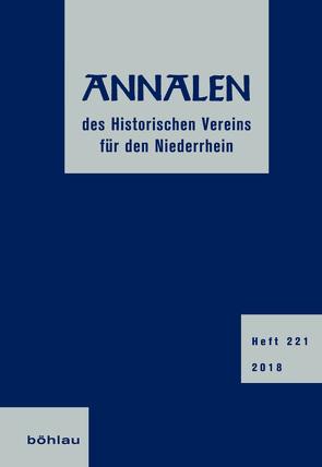 Annalen des Historischen Vereins für den Niederrhein von Finger,  Heinz, Richter,  Olaf, Schlossmacher,  Norbert