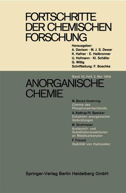 Anorganische Chemie von Becke-Goehring,  Margot, Freund,  F., Kettrup,  A., Specker,  H., Strohmeier,  W.
