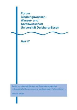 Ansätze zur Quantifizierung des Renaturierungserfolgs von Berger,  Viktoria