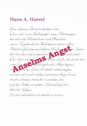Anselms Angst von Hoevel,  Hans A.