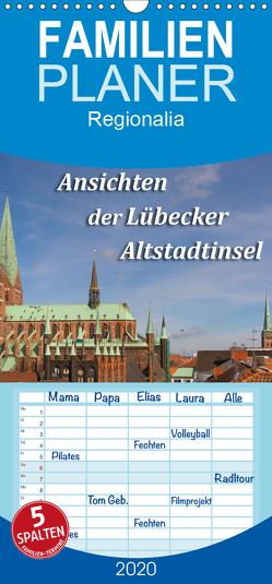 Ansichten der Lübecker Altstadtinsel – Familienplaner hoch (Wandkalender 2020 , 21 cm x 45 cm, hoch) von Smith,  Sidney