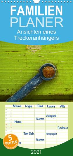 Ansichten eines Treckeranhängers / Geburtstagskalender – Familienplaner hoch (Wandkalender 2021 , 21 cm x 45 cm, hoch) von Hampe,  Gabi