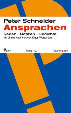 Ansprachen von Schneider,  Peter