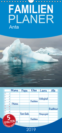 Antarktis – Familienplaner hoch (Wandkalender 2019 , 21 cm x 45 cm, hoch) von Ange