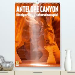 Antelope Canyon – Einzigartiges Naturschauspiel (Premium, hochwertiger DIN A2 Wandkalender 2021, Kunstdruck in Hochglanz) von Viola,  Melanie