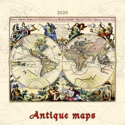 Antique Maps 2020 – antike Landkarten – Bildkalender (42 x 42) – Geschichte – historische Karten – Wandkalender von ALPHA EDITION