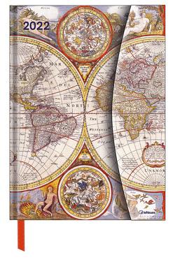 Antique Maps 2022 – Buchkalender – Taschenkalender – 16×22