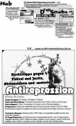 Antirepression CD von Bergstedt,  Jörg