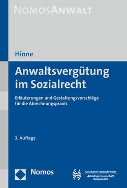 Anwaltsvergütung im Sozialrecht von Hinne,  Dirk