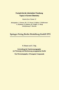 Anwendung der Gaschromatographie zur Trennung und Bestimmung anorganischer Stoffe von Ruessel,  Harald, Tölg,  Günther