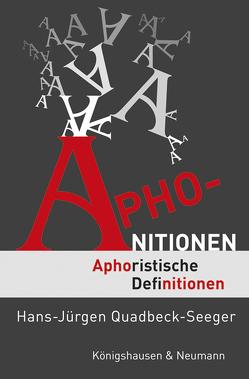 Aphonitionen von Quadbeck-Seeger,  Hans-Jürgen