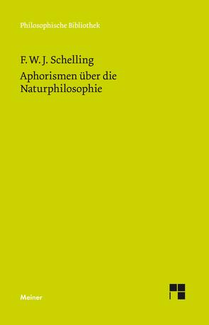 Aphorismen über die Naturphilosophie von Mauch,  Fabian, Schelling,  Friedrich Wilhelm Joseph