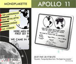 Apollo 11 – Gedenkplakette