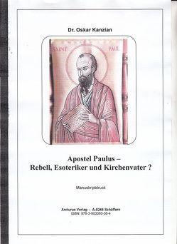 Apostel Paulus von Mag. Sebottendorf,  Erasmus von