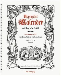 Appenzeller Kalender 2019 von Koenig,  Christine