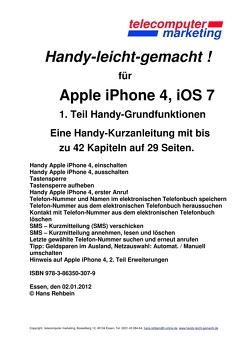 Apple iPhone 4, iOS 7 von Rehbein,  Hans