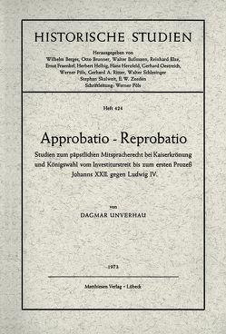 Approbatio – Reprobatio von Unverhau,  Dagmar