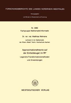 Approximationstheorie auf der Einheitskugel im R3 von Wehrens,  Matthias