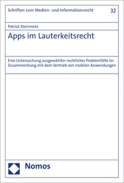 Apps im Lauterkeitsrecht von Steinmetz,  Patrick