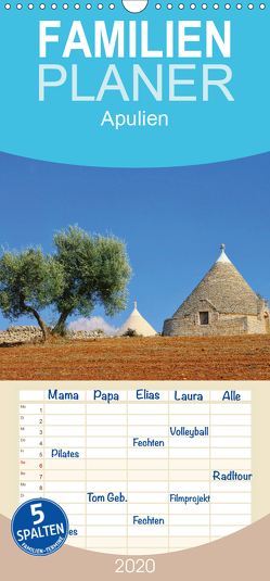 Apulien – Familienplaner hoch (Wandkalender 2020 , 21 cm x 45 cm, hoch) von LianeM