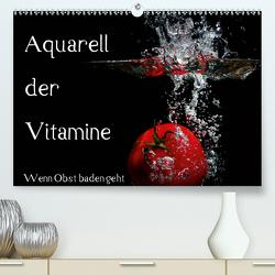 Aquarell der Vitamine – Wenn Obst baden geht (Premium, hochwertiger DIN A2 Wandkalender 2020, Kunstdruck in Hochglanz) von Rochow,  Holger