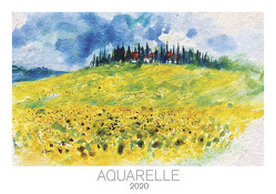 Aquarelle 2020 – Bildkalender quer (49 x 34) – Kunst – Malerei – Wandkalender von ALPHA EDITION