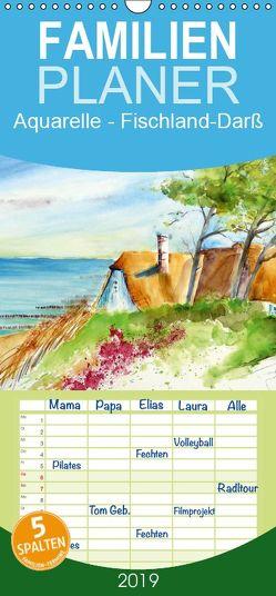 Aquarelle – Fischland-Darß – Familienplaner hoch (Wandkalender 2019 , 21 cm x 45 cm, hoch) von Dürr,  Brigitte