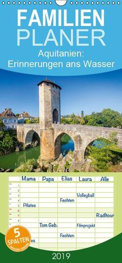 Aquitanien: Erinnerungen ans Wasser – Familienplaner hoch (Wandkalender 2019 , 21 cm x 45 cm, hoch) von CALVENDO