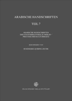Arabische Handschriften von Quiring-Zoche,  Rosemarie