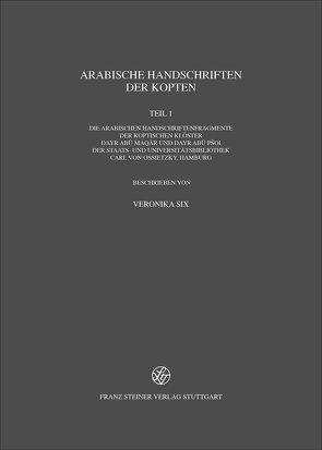 Arabische Handschriften der Kopten von Six,  Veronika
