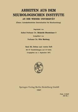 Arbeiten aus dem Neurologischen Institute an der Wiener Universität von Marburg,  Otto, Obersteiner,  Heinrich