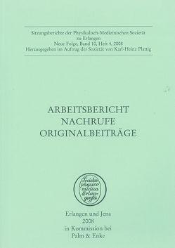 Arbeitsbericht. Nachrufe. Originalbeiträge. von Plattig,  Karl-Heinz