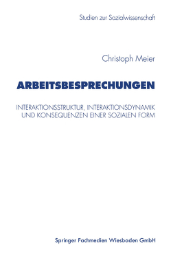 Arbeitsbesprechungen von Meier,  Christoph