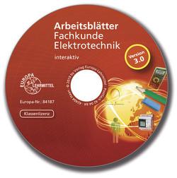 Arbeitsblätter Fachkunde Elektrotechnik – interaktiv von Käppel,  Thomas, Manderla,  Jürgen, Tkotz,  Klaus