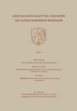 Arbeitsgemeinschaft für Forschung des Landes Nordrhein-Wesfalen von Seewald,  Friedrich