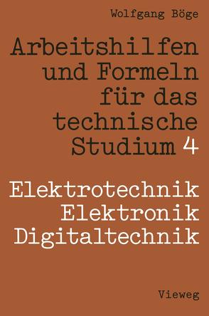 Arbeitshilfen und Formeln für das technische Studium von Böge,  Wolfgang, Franke,  Peter, Lachmann,  Dieter