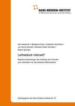 Arbeitspapiere des Hans-Bredow-Instituts Nr. 27 von Hasebrink,  Uwe, Schröder,  Hermann-Dieter, Schulz,  Wolfgang